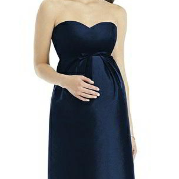 ccad80689 ALFRED SUNG Dresses | Maternity Bridesmaid Midnight Blue | Poshmark